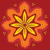 индийский орнамент уроженца мандала Стоковая Фотография