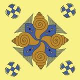индийский орнамент уроженца мандала Стоковое Фото