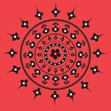 индийский орнамент уроженца мандала Стоковая Фотография RF