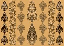 индийский орнамент иллюстрация штока