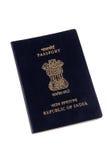 индийский пасспорт стоковое изображение