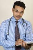Индийский рецепт сочинительства доктора Стоковая Фотография RF