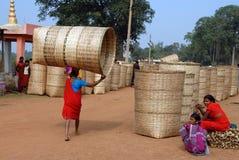 индийский рынок соплеменный Стоковая Фотография