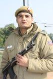 индийский солдат стоковая фотография rf