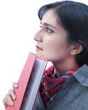 Индийский студент над белой предпосылкой. Стоковые Фото