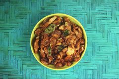 Индийский традиционный рецепт гриба Стоковое Изображение RF