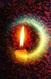 Индийский фестиваль предпосылки Diwali красочной освещая стоковые фотографии rf
