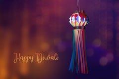 Индийский фестиваль Diwali, фонарик стоковая фотография rf