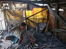 Индийский blacksmith стоковые фотографии rf