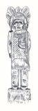 индийский totem Стоковое фото RF