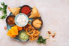 Индийское вегетарианское thali с рисом jeera Стоковое Изображение