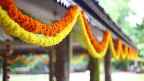 Индийское индусское оформление свадьбы сток-видео