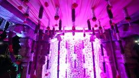 Индийское индусское wedding оформление Mandap сток-видео