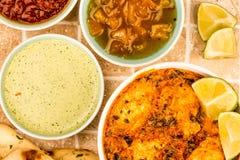 Индийское карри Saag Masala цыпленка стиля Стоковая Фотография RF