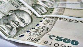 Индийское примечание Rs валюты 500 стоковое фото rf