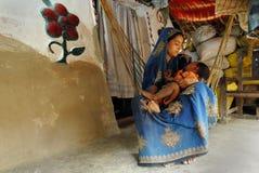 индийское село жизни Стоковые Фотографии RF