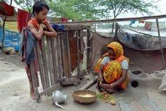 индийское село жизни Стоковая Фотография RF