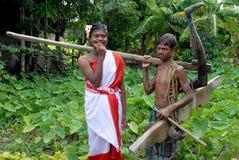 индийское село жизни Стоковая Фотография
