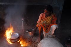 индийское село жизни Стоковые Изображения RF