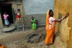 индийское село жизни Стоковое Фото
