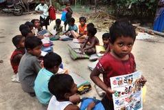 индийское село школы стоковые фотографии rf