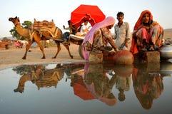 индийское село Стоковое Изображение