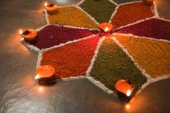 индийское rangoli Стоковые Фото