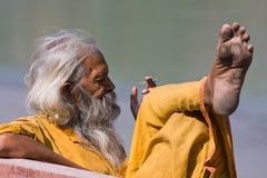 Индийское sadhu (святейший человек) Стоковая Фотография