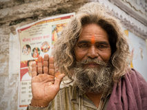 Индийское Sadhu Стоковое Изображение