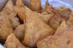 индийское samosa Стоковые Фотографии RF