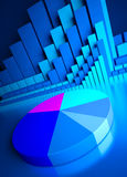 индикаторы графиков валют дела Стоковое Фото