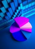 индикаторы графиков валют дела Стоковое Изображение