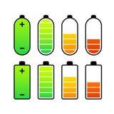 Индикаторы обязанности батареи ровные Стоковые Изображения RF