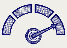 Индикатор. Тип Doodle иллюстрация штока