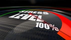 Индикатор уровня стресса стоковые изображения