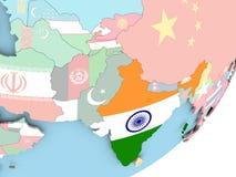Индия с флагом бесплатная иллюстрация