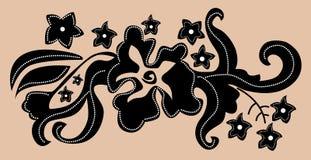 индонеец цветка батика Стоковые Фото