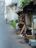 Индонезийская трущоба стоковые фотографии rf