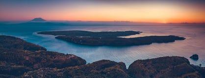 Индонезийский бечевник, океан Панорамный обзор стоковое изображение rf