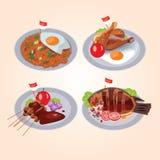 Индонезийский пакет еды иллюстрация штока