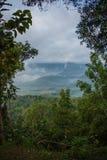 Индонезийский сельский ландшафт в раннем утре стоковые фотографии rf
