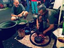 Индонезийский традиционный рынок Стоковые Фото