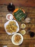 Индонезийское меню еды стоковые изображения rf