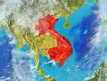 Индо-Китай на земле от космоса иллюстрация штока