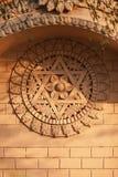 Индусская 6-остроконечная звезда, и зацветая цветок в центре стоковое изображение
