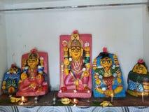 Индусские боги деревни стоковая фотография