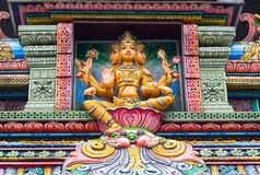 Индусский бог в централи Бангкока, место для поклоняться стоковое изображение rf