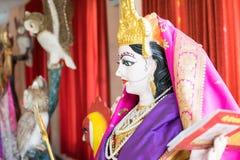 Индусский бог как священный в индусском виске Стоковые Фото