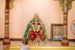 Индусский бог как священный в индусском виске Стоковые Изображения