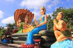 Индусский бог Rama с его супругой Mata Sita и hanuman Стоковая Фотография RF